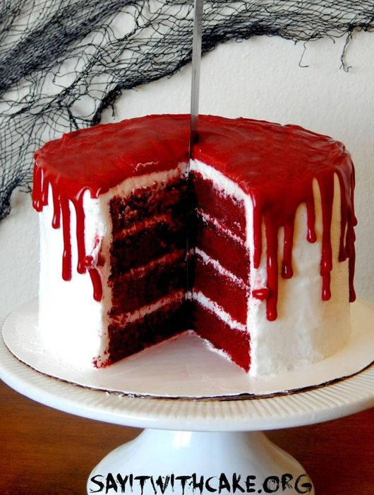 Decoration Pour Gateau Au Chocolat Red Velvet Bloody Halloween Cake – Je Fouine, Tu Fouines