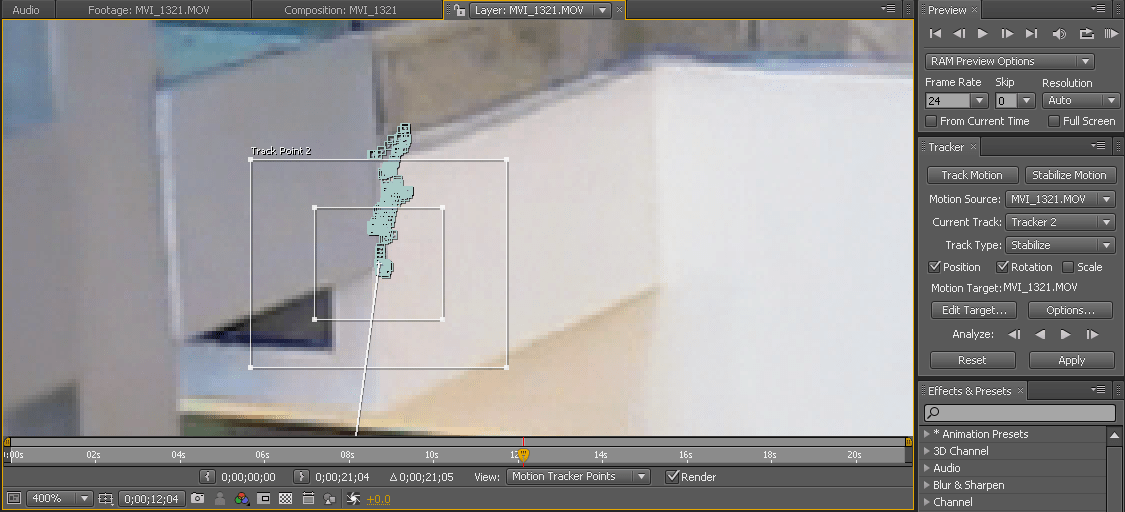 AE Tracking Lines