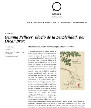 Maleza viva en revista Detour microrrelatos Gemma Pellicer