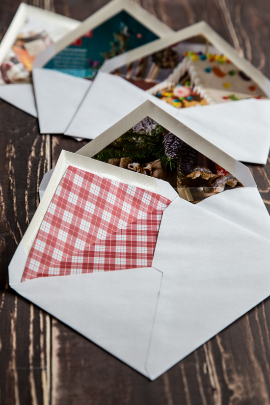DIY lined envelopes - Jelly Toast - paper lined