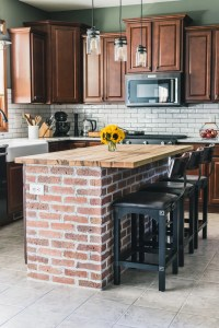 DIY Brick Kitchen Island + Behind the Scenes of our ...