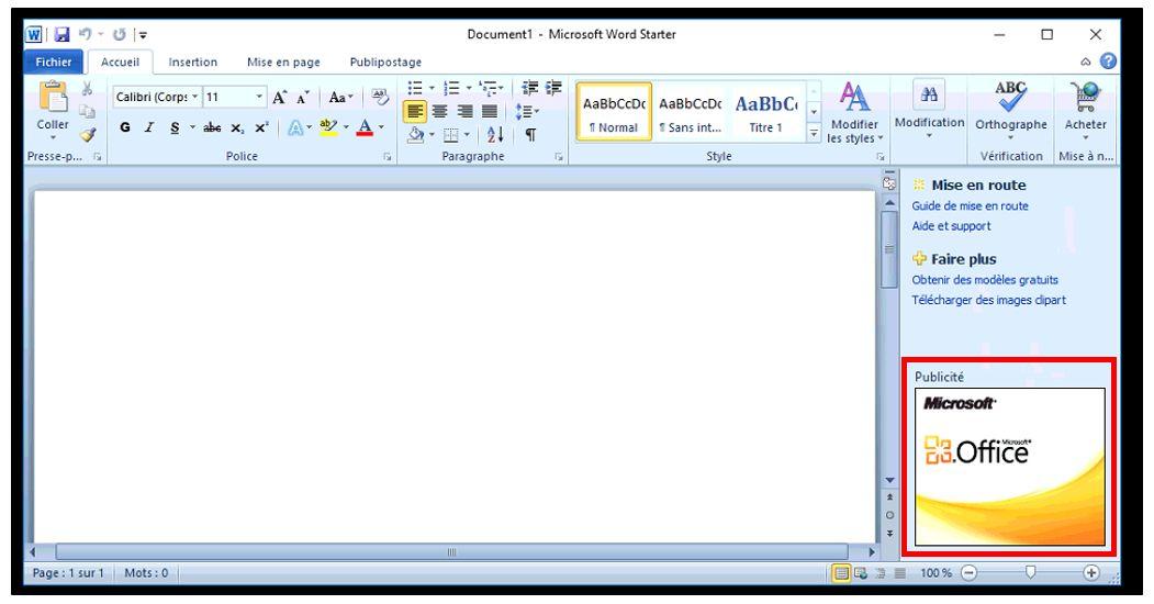 word starter pour windows 10