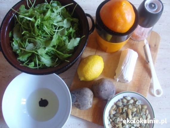 Carpaccio z buraków z kozim serem i winegretem pomarańczowo-balsamicznym