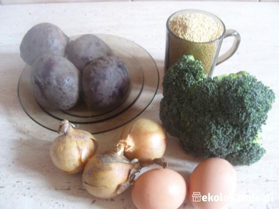 Zapiekanka jaglano-brokułowa