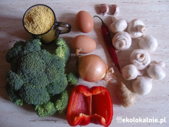 Zapiekanka brokułowo-jaglana