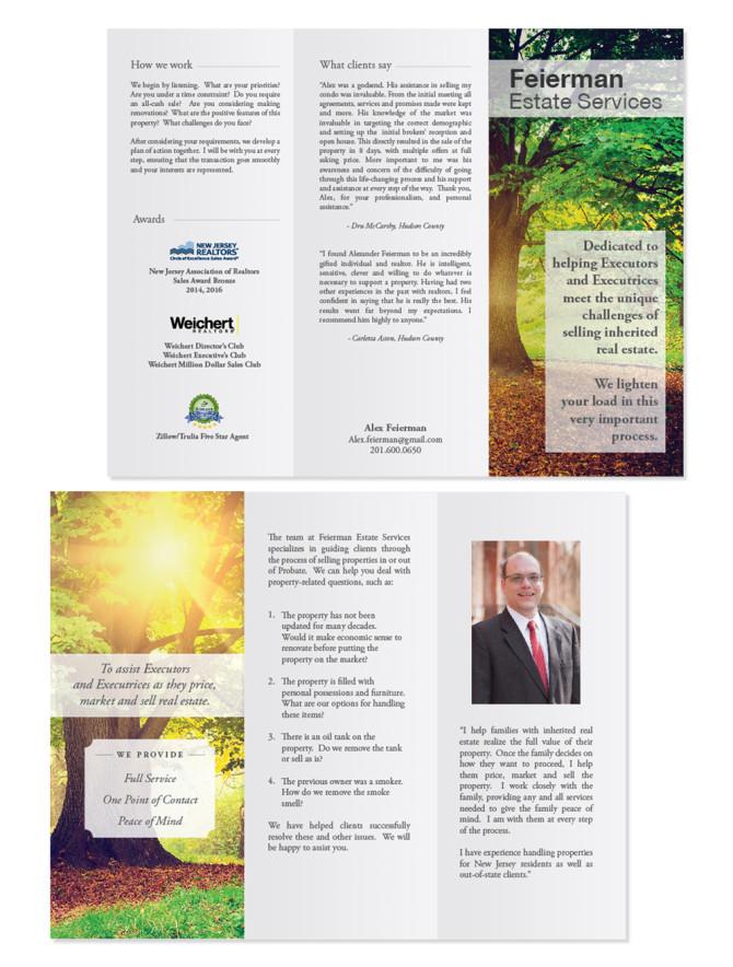 Estate Services Brochure u2013 Nashville Graphic Designer Franklin - services brochure