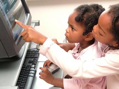 Children using home computer