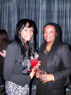 Jenebaspeaks.com staff working the event, my intern Adama Jalloh of Poshthesocialite.com and Right of Black co-host Shanon D. Murray.