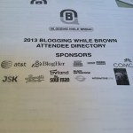 A conference attendee booklet is ideal!