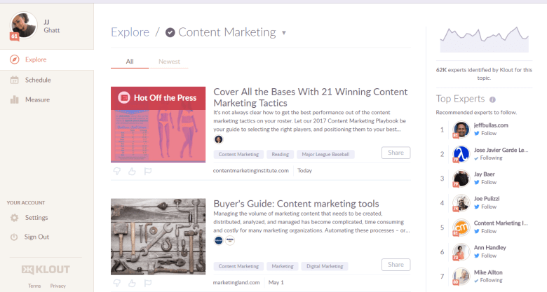 Klout - Be Known For What You Love