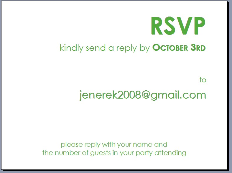 rsvp e cards - Intoanysearch - rsvp e cards