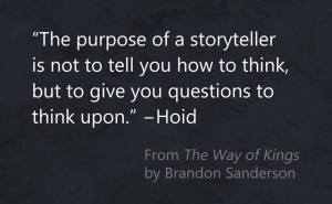the purpose of a storyteller