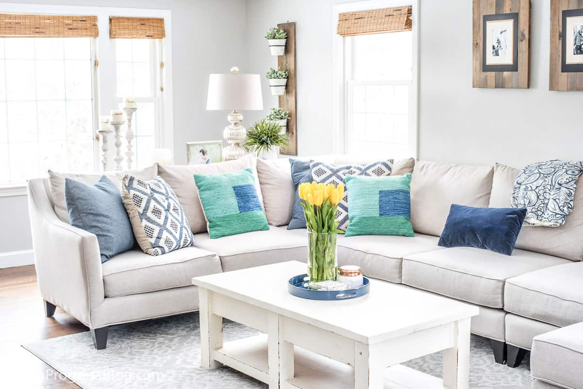 Living Room Schemes Navy Blue Green Decorating Ideas A Spring Living Room Refresh