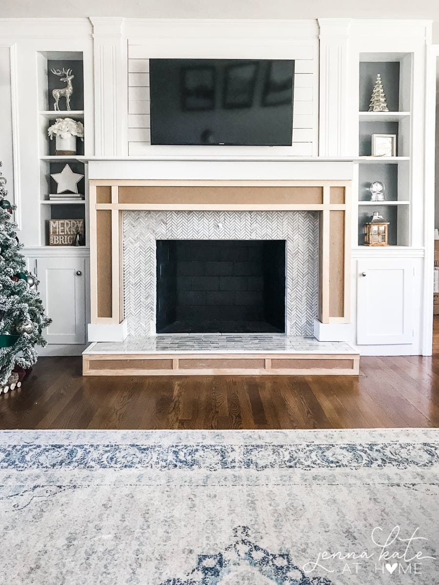 Build Your Own Fireplace Insert How To Build A Fireplace Surround Jenna Kate At Home