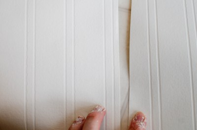 Beadboard Wallpaper Project, Part 1 | Just another mom blog...