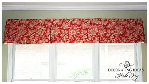 Pleated Curtains For Curtain Box : is a box pleat curtain I made for a client's kitchen window curtains ...
