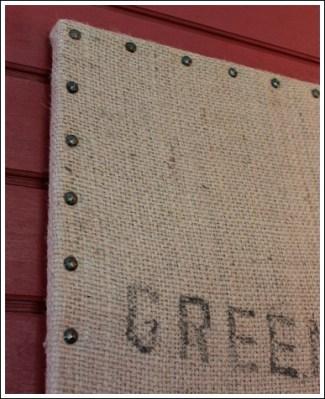 Cheap wall decor ideas that don 39 t look cheap for Decorative burlap bags