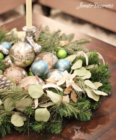 White Christmas decorating ideas- Jennifer Decorates.com