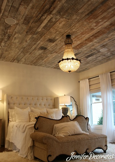 Wood Ceiling Ideas Jennifer Decorates