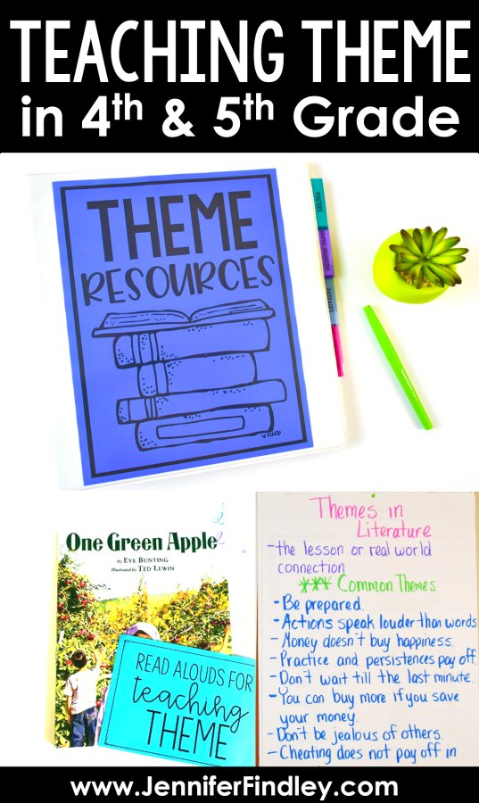 Teaching Theme in the Upper Grades and a FREEBIE! - Teaching with