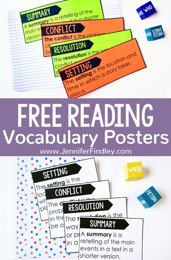 Free Reading Posters (4th-5th Grade) - Teaching with Jennifer Findley