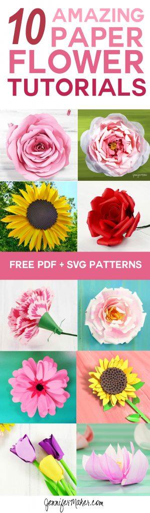 DIY Paper Flowers The Best Free Tutorials, Patterns,  Videos