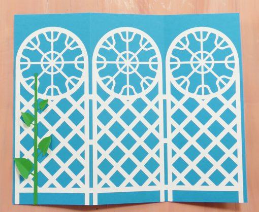 How to Make an Easy Trellis Tri-Fold Card - Jennifer Maker