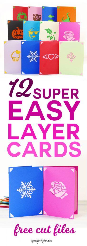 Easy Layers Greeting Card Set - 12 More Designs! - Jennifer Maker
