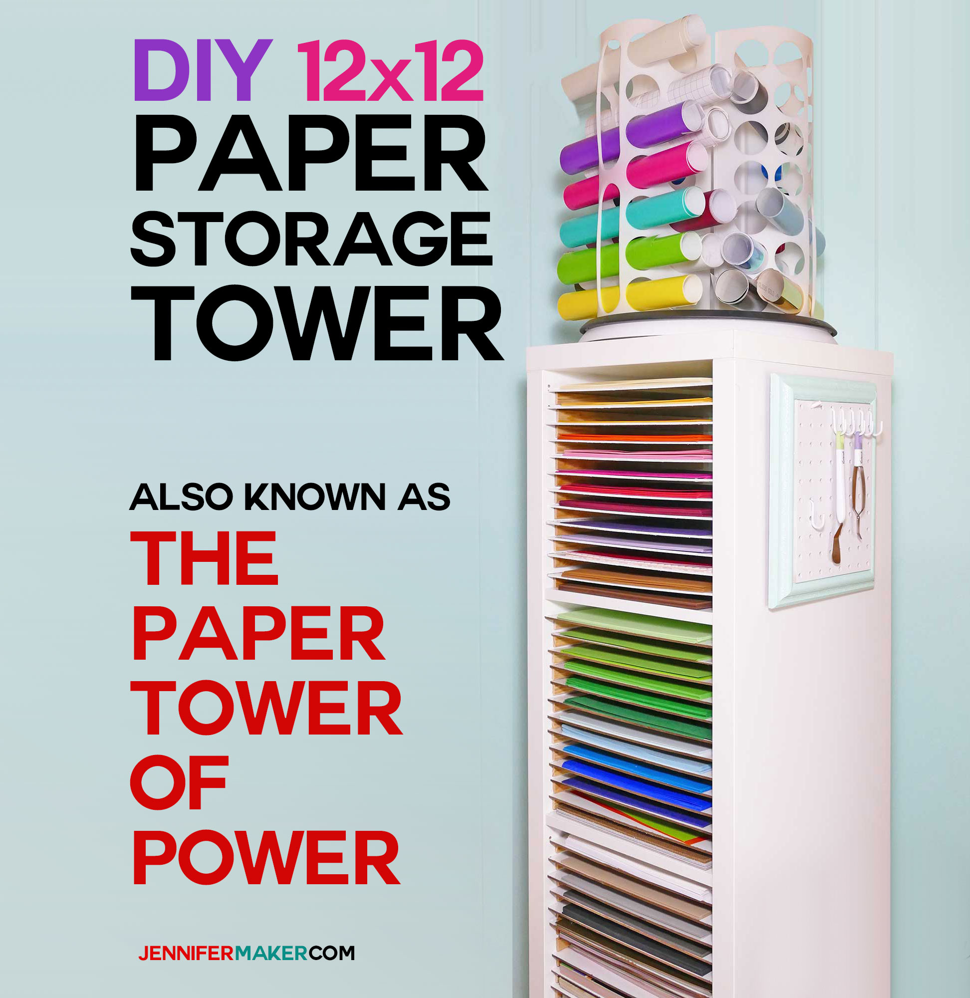 Ikea Box Holder 12x12 Paper Storage Diy Vertical Organizer For Scrapbook Paper