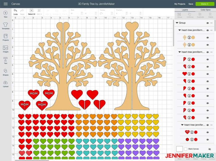3D Family Tree from Wood or Paper! - Jennifer Maker