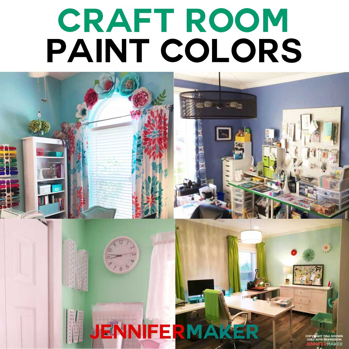 Paint Colors That Flow From Room To Room Craft Room Paint Colors Ideas Jennifer Maker