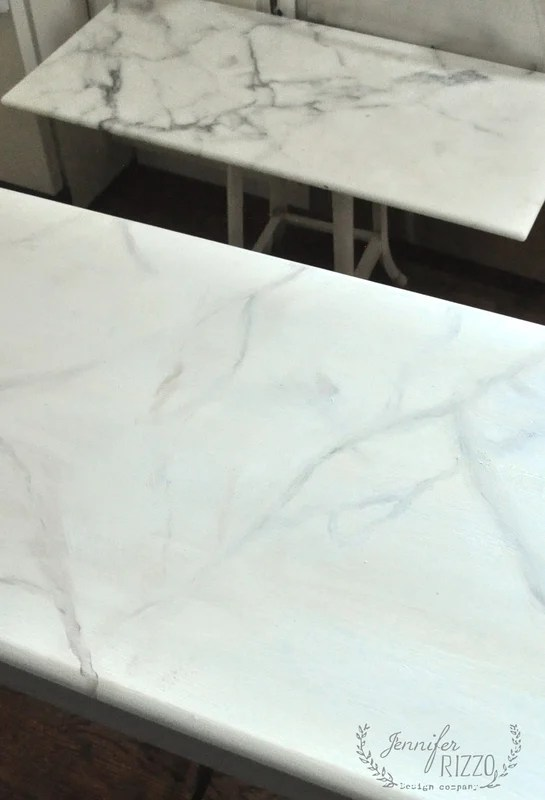 Real Marble And Faux Marble Side By Side How To Paint Faux Marble Jennifer Rizzo