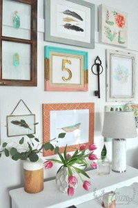 How to create a gallery wall collage with frames ...