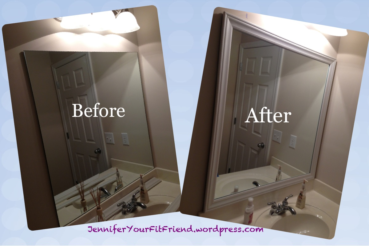 How To Frame Mirror In Bathroom Bathroom Mirror Frame Jennifer Your Fit Friend