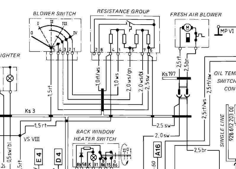 Porsche 928 Wiring Diagram Free Electronic Schematics collections