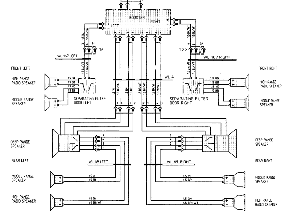 4 channel subwoofer wiring diagrams
