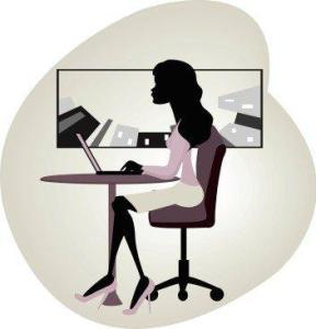 Kozzi vector image of businesswoman using laptop 354x367 288x300 How To Schedule Posts On Google + With Do Share   Finally It Can Be Done!