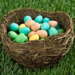 a nest full of easter eggs