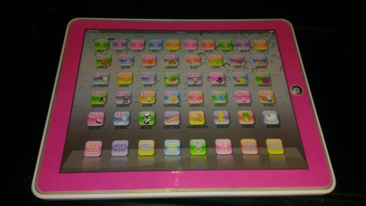 children's pink learning tablet
