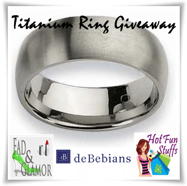 tit ring You're Not Going To Miss Titanium Ring #Giveaway Are You?