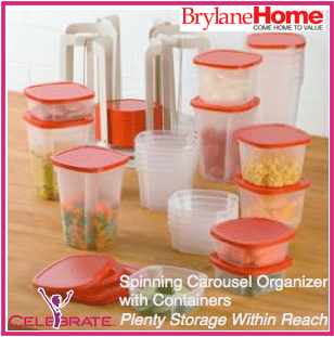 Spinning Carousel Organizer with Containters Spinning Carousel Organizer #Giveaway
