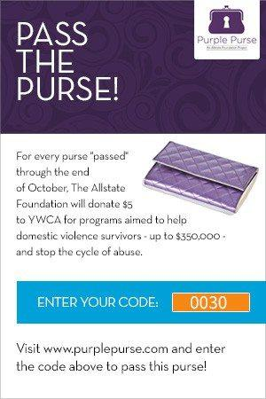 BSM Virtual Purse Pass Card How Can You Help Women Escape Domestic Violence?  #PurplePurse