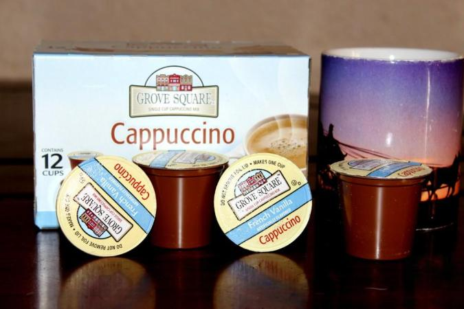 French Vanilla Grove Square Cappuccino K-Cups Cocoa, Coffee, and Cappuccino Single Serve K-Cups - Oh My!