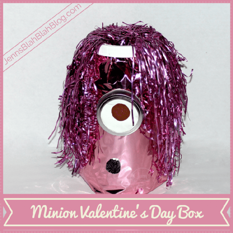 Pink Minion Valentine's Day Box Craft For Kids Easy, Affordable Minion Valentine's Day Box Craft With Kids