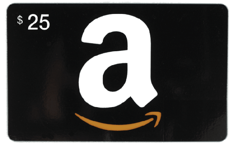 $25 Amazon Gift Card that is black  #Giveaway - SIX People #Win $25 Amazon Gift Card amazon gift card