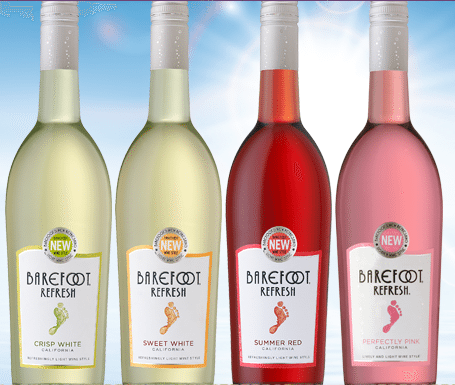 barefoot refresh wine Getting Barefoot with Sweet White Wine & Perfectly Pink Wine!