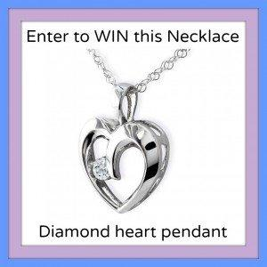 giveaway heart necklace Enter to #Win The 1/10ct Diamond Heart Pendant #Giveaway
