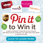 ups pin it to win it campain pinterest giveaway button
