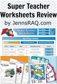 Super Teacher Worksheets Review - Jenn's RAQ