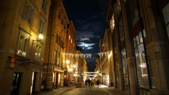 Gamla Stan, Stockholm, at night